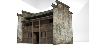 3D ancient buildings residential model