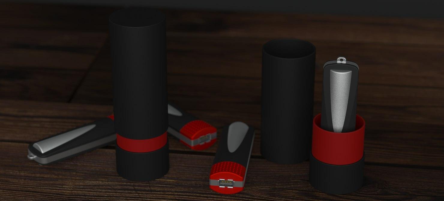 3D model designer power bank charger