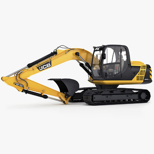 tracked excavator js130 3D model