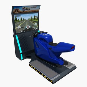 moto arcade machine 3D model