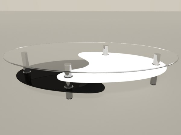 3D yin yang table