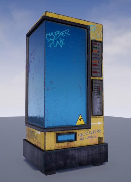 3D drink snacks vending machine model