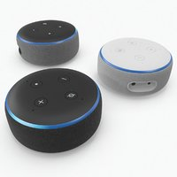 amazon echo dot 3rd 3D