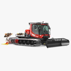3D pistenbully 100 snow groomer