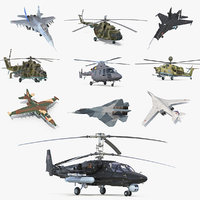 Russian Military Aircrafts 3D Models Collection 2
