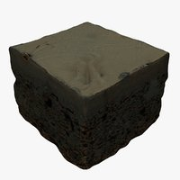 chocolate cake mc 3D model