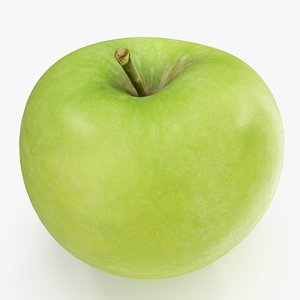 apple granny smith 04 3D model