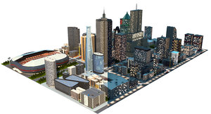 big city a1 day 3D model