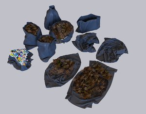 3D garbage bags pack