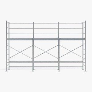 3D scaffolding pbr model
