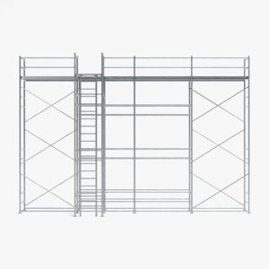 scaffolding pbr model