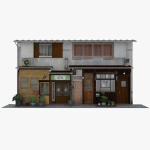 3D old japanese restaurant