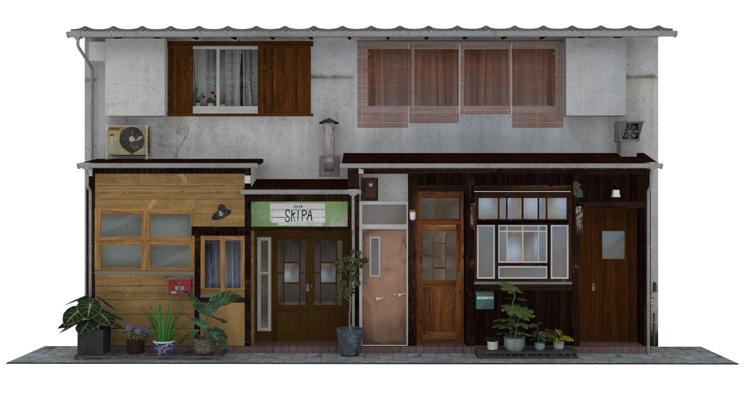 3D old japanese restaurant