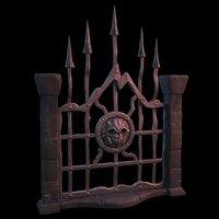 fantasy gate 3D model