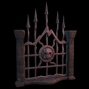 fantasy gate 3D model