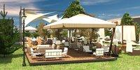 3D garden restaurant model