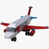 lego air plane 3D model