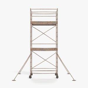 old scaffolding model