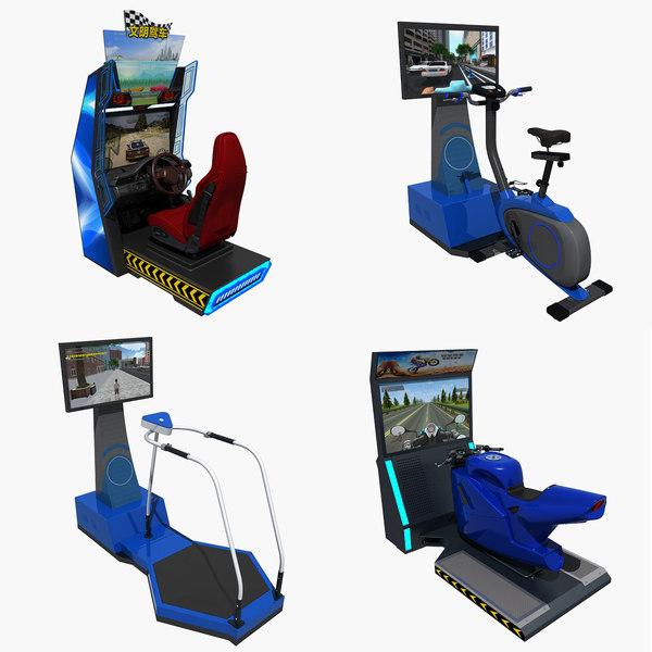 3D arcade simulator amusement equipment