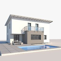 3D contemporary house