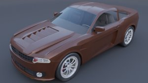 generic car muscle 3D
