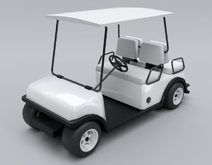 golf cart car 3D model
