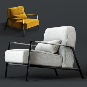 nicoline rho armchair 3D model