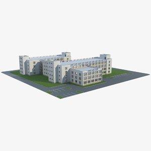 3D model apartment building 31