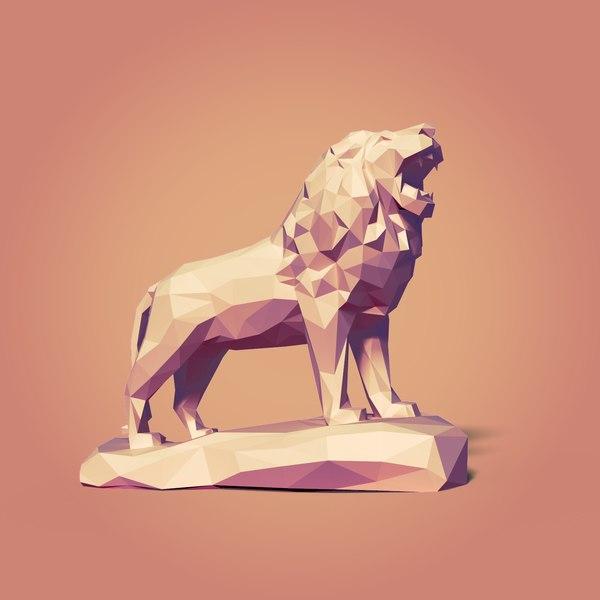 lion cartoon toon 3D model