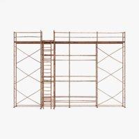 old scaffolding 3D model
