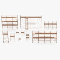 old scaffolding set 3D