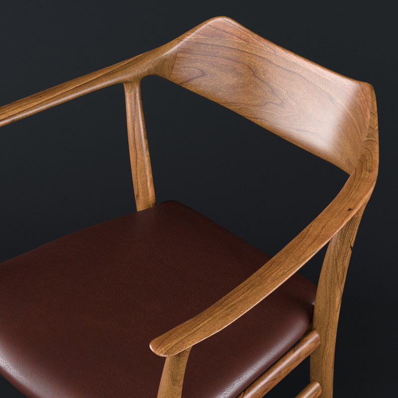3D model arm chair kitani