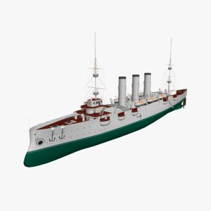 3d model aurora battle ship
