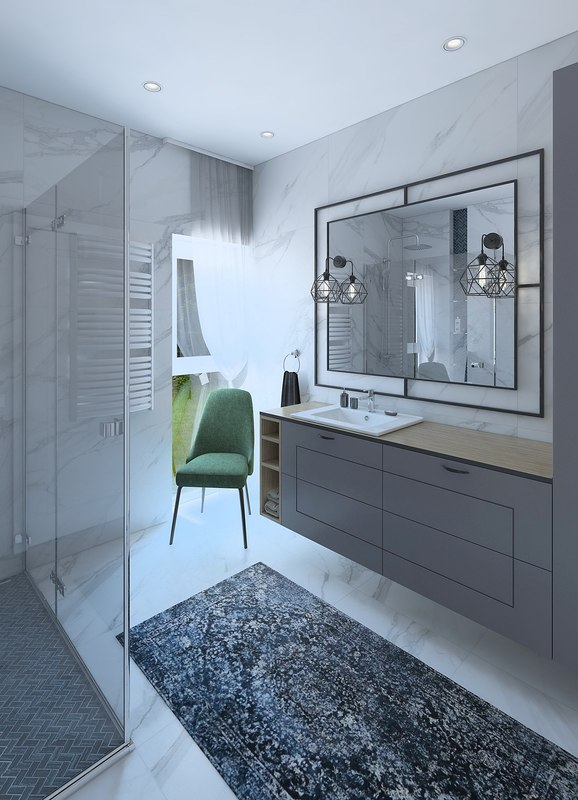 bathroom wc interior 3D model