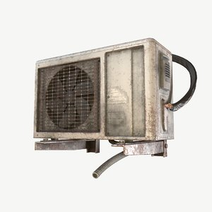 old air condition 3D model