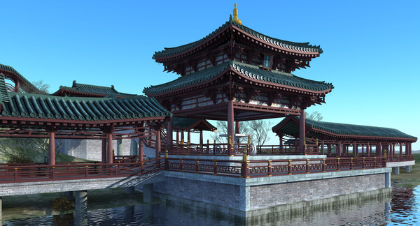 3D model chinese pavilion