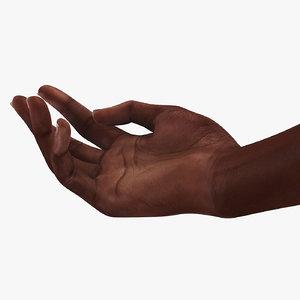 3D african female hand short