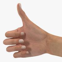 3D australian female hand australia