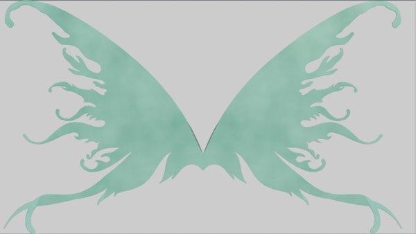 3D wings fairy