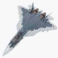 sukhoi su-57 - pbr 3D