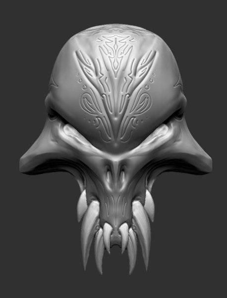 3D skull prop