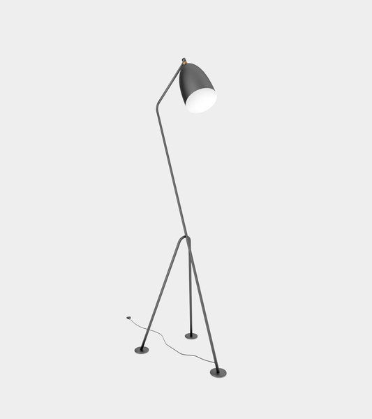 3D anthracite floor lamp modelled model
