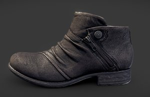 3D model leather boot