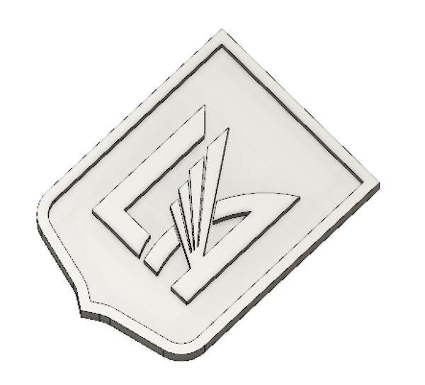 3D lafc logo