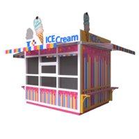 ice cream kiosk 3D model
