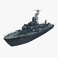 3d model ship patrol navy