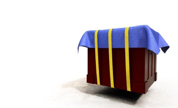 3D model pubg airdrop