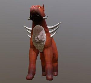 3D model hell dog