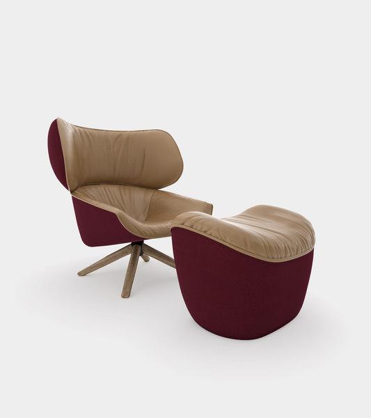 armchair headrest ears modelled 3D model