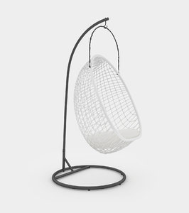chillout rattan hanging chair furniture model